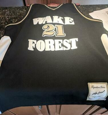 32984731c Tim Duncan Wake Forest Basketball Jersey Size 54 Signature Series Sewn On