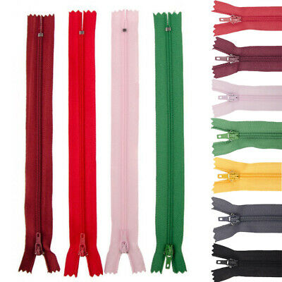 5/10pcs New 8inch Nylon Coil Zippers Tailor Sewer Craft Crafter's FGDQRS(U PICK