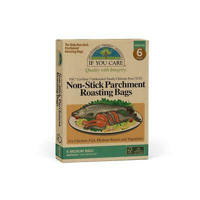 If You Care Non-Stick Parchment Roasting Bags for Chicken/Fish–Medium-Unbleached