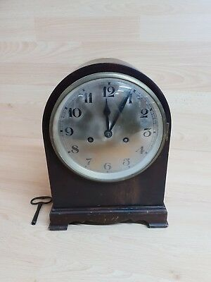 Vintage Constantia Clock - Made in Germany - With Key - Mantle shelf clock wood