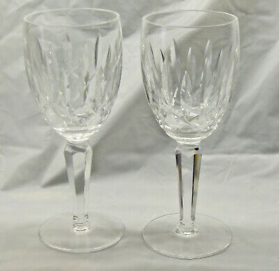 Pair of WATERFORD crystal claret wine glasses in KILDARE pattern!