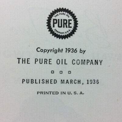 Vtg 1936 Pure Oil Gas Airplane Jimmie Mattern Radio Show Cloud Country Book 2