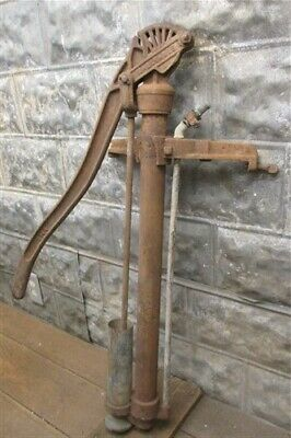Well Water Pump, Cast Iron Cistern, Windmill Pitcher Pump, Vintage Myers ek,