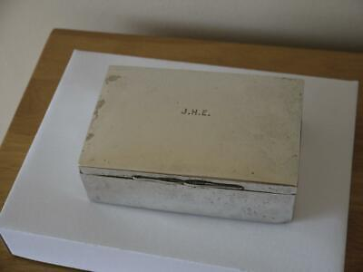 Nice Antique Victorian Hm 1900 Mappin & Webb Sterling Silver Lined Cigarette Box
