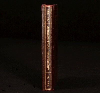 1943 AERNAUTICAL Dictionary in French and English First Edition