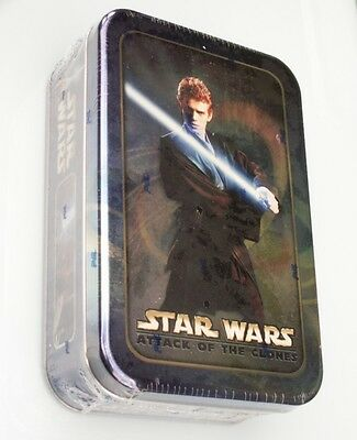 star wars attack of the clones topps collectors tin with cards anakin  BNIP