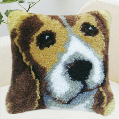 Latch Hook Kits Crocheting Animal Pillow Sofa Cushion Embroidery Package DIY