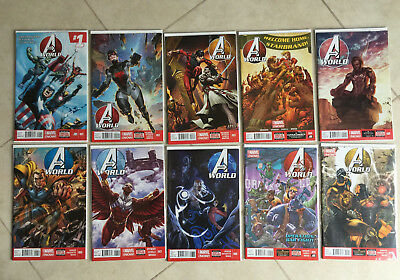 Marvel Comics Avengers World 1 - 10 (10 Comics)