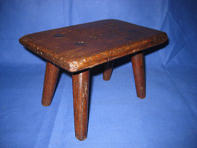 Welsh Antique 19th Century Oak Child's Stool