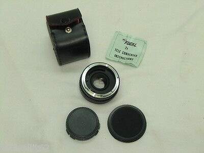 Focal MC 2X Teleconverter 20-06-77 Converter + Case & Caps + Instructions!