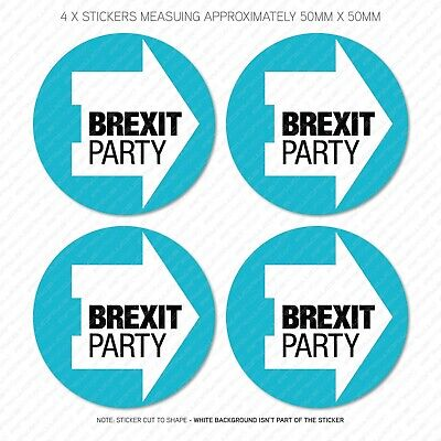 4 x The Brexit Party Stickers - Leave Means Leave EU - 50mm x 50mm -  SKU5718