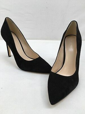 fc8ef48108d NINE WEST TATIANA Black Suede Pointed Toe Pumps Size 10M F3158 OOS ...