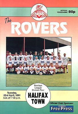 1990/91 Doncaster Rovers v Halifax Town, Division 4, PERFECT CONDITION