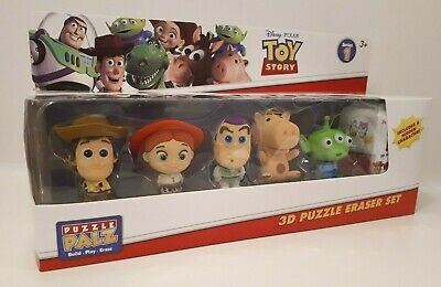 Puzzle Palz Disney Toy Story 3D Puzzle Eraser Set with 6 Build Characters