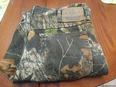 49a774ea WRANGLER Mossy Oak Men's Jeans Camo Pants Hunting Outdoors Camouflage Sz  30X30