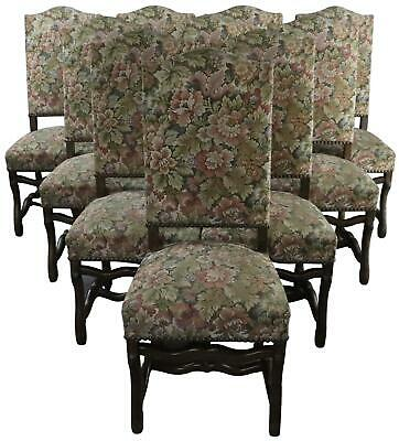 Dining Chairs Set 10 Sheepbone Beech Wood Vintage French 1930 Floral