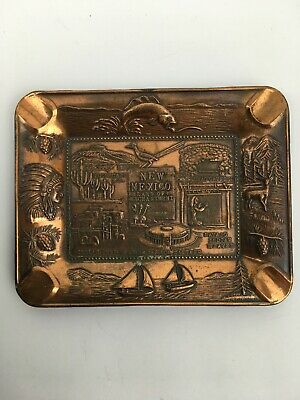 New Mexico Sourvenir Ashtray Bronze Color Collectible