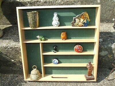 Vintage Wooden cutlery draw curio collectors shelve  free standing or wall