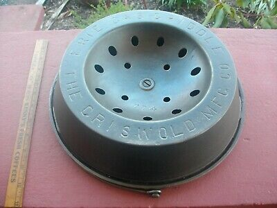 EARLY Griswold Cast Iron ERIE GAS GRIDDLE or VAPOR STOVE GRIDDLE NICE