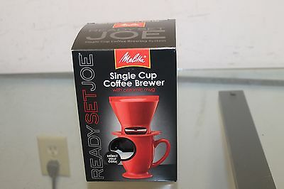 Melitta Coffee Maker, Single Cup Pour-over Brewer With Travel Mug