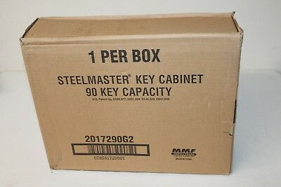 MMF Steelmaster Security Key Cabinet for 90 Keys Charcoal Gray