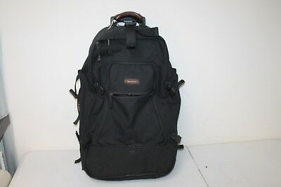 "Timberland 27"" Rolling Upright Luggage Duffle Bag Backpack Roller Black"
