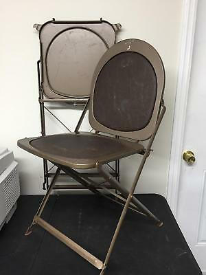 Steel Vintage 50s 1950s Folding Utilitarian Chair Chairs