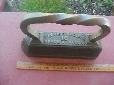 LATE 1800's OBER 16 Antique Cast Iron Sad iron Tailor Iron Chagrin Falls Ohio