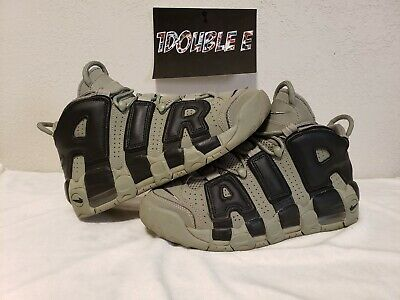 brand new e899e abf5a Nike Air More Uptempo Gs Size 6.5Y 8 Womens Dark Stucco Black 415082 007 Euc