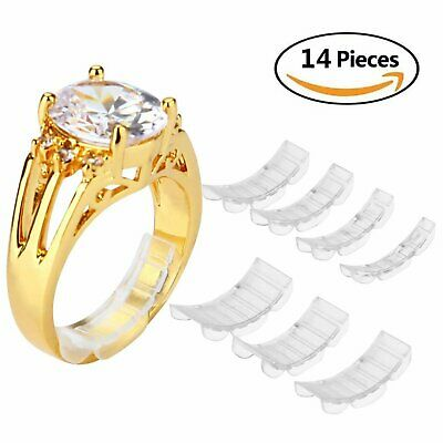 Eiito Ring Size Adjuster Invisible White 14 Pieces Reducer Ring Band Guard New