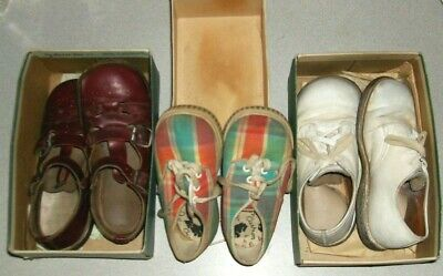 Lot Vintage Baby Shoes Stride Rite Mrs. Day's