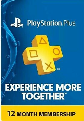 PlayStation Plus Membership Card - Subscription 12 Month - Digital Code