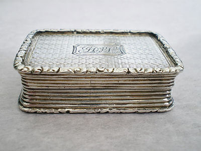 Antique Georgian Silver Vinaigrette by Joseph Willmore; Hallmark Birmingham 1827