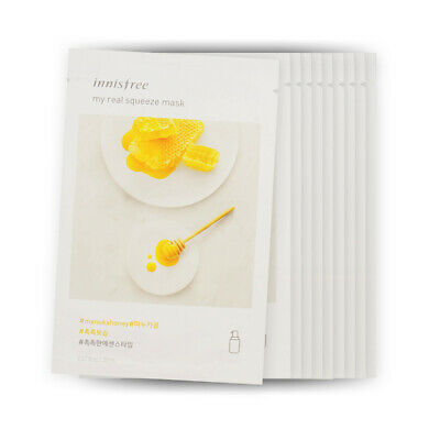 [Sample] [Innisfree] My Real Squeeze Mask #Manuka Honey x 10PCS