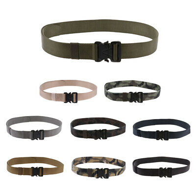 Nylon Military Tactical Men Belt Webbing Outdoor Web Belt With Alloy Buckle