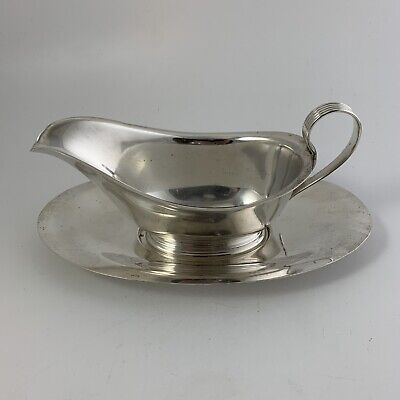 ALVIN  STERLING  Gravy Boat & Separate Underplate Silver S118