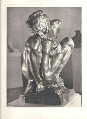 AUGUSTE RODIN -FEMME ACCROUPIE-VINTAGE HELIOGRAVURE-ARCHES by ANDRE STEINER-1947