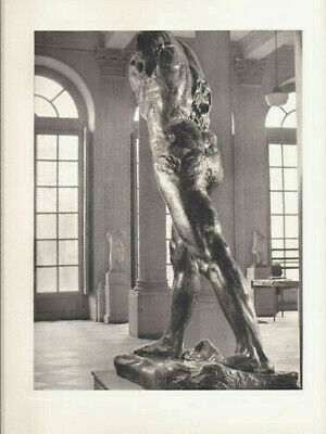 AUGUSTE RODIN-L'HOMME MARCHE-VINTAGE HELIOGRAVURE-ARCHES by ANDRE STEINER -1947