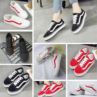 Classic Mens Canvas Sneakers OLD SKOOL Lace-up Van Trainers Sport Running Shoes