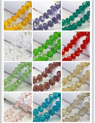 Wholesale 100/500/1000pcs 4mm Glass Crystal Faceted Rondelle Charm Spaced Beads