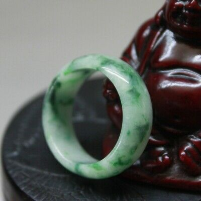 Size 10 1/4 ** JADE CERTIFIED Natural (A) Beautiful Untreated Green Jadeite Ring