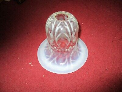 A Victorian Vaseline Glass Lampshade c1880