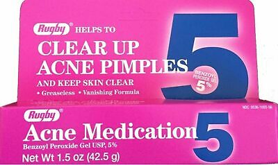 Benzoyl Peroxide Acne Gel 5% (Compare to OXY Balance) 1.5oz Tube Rugby