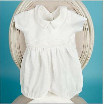 Baby Boy Baptism - Christening Two Piece Romper Off White NEW Wedding jumpsuit