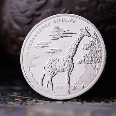 2007 Congo Animal Giraffe Silver Commemorative Coin