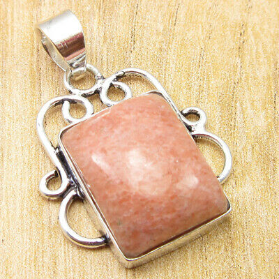 "High End Orange Aventurine ! 925 Silver Overlay Gift Idea Pendant 1.4"" HANDMADE"