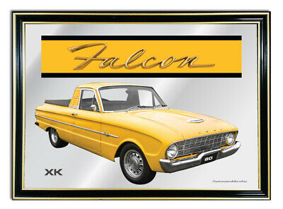 Bar Mirror/picture/ Sign/artwork Suit Yellow Ford Falcon Xk Ute Enthusiast