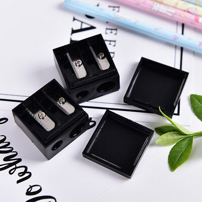 New Precision Cosmetic Pencil 2 Holes Sharpener for Eyebrow Lip Liner Eyeline Ts