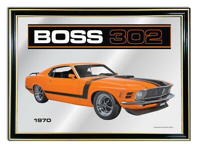 Bar Mirror/picture/ Sign/artwork Suit Yellow Ford Boss 302 Mustang Enthusiast