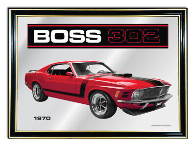 Bar Mirror/picture/ Sign/artwork Suit Dk Red Ford Boss 302 Mustang Enthusiast